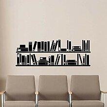 Bücher Bücherregal Wand Vinyl Aufkleber Lesesaal