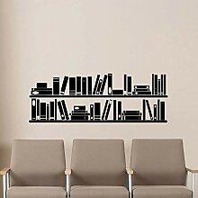 Bücher Bücherregal Wand Vinyl Aufkleber