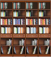 Bücherregal 2 m aus Massivholz, Bücherregal-Wand