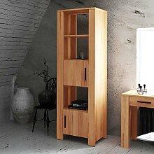 Bücherregal aus Kernbuche Massivholz mit Türen