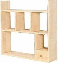 Bücherregal aus Massivholz, Bücherregal für