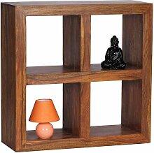 Bücherregal aus Sheesham Massivholz 4 Fächer
