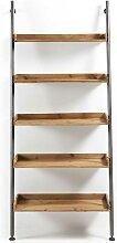 Bücherregal aus Tanne Massivholz Eisen Schwarz