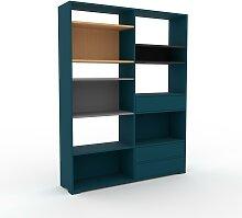 Bücherregal Blaugrün - Modernes Regal für