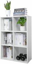 Bücherregal, Bücherschrank mit 6 Fächer,