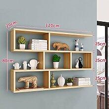 Bücherregal CHUANLAN Wand Wohnzimmer Schlafzimmer
