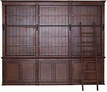 Bücherregal dunkel Holz teilmassiv Erle braun