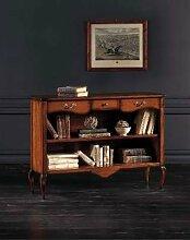 Bücherregal Holz Antik cm 120 x 36, h 87 -