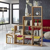 Bücherregal im Treppen Design Buche Dekor