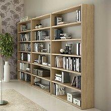 Bücherregal in Eiche 275 cm breit