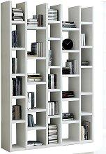 Bücherregal in Hochglanz Weiß 150 cm