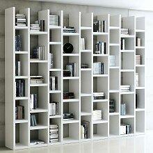 Bücherregal in Hochglanz Weiß 270 cm