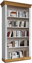 Bücherregal in Weiß Kiefer massiv Landhaus