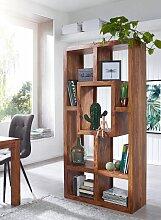 Bücherregal Massiv-Holz Sheesham 90 x 180 cm