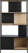 Bücherregal mit 1 Tür aus Tannenholz und