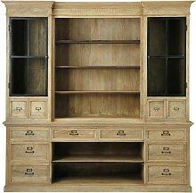 Bücherregal mit 12 Schubladen und 2 Türen aus