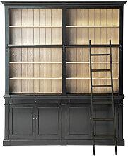 Bücherregal mit 2 Schubladen, 4 Türen und