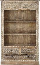 Bücherregal mit 3 Schubladen aus massivem