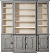 Bücherregal mit 4 Türen aus recyceltem