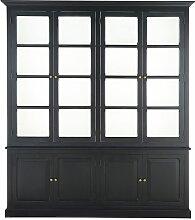 Bücherregal mit 8 Türen, schwarz Cambronne