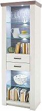 Bücherregal mit LED Beleuchtung Pinie Weiß