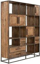 Bücherregal Oklahoma Massivum Farbe: Hellbraun