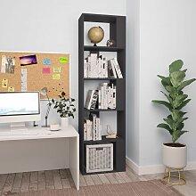 Bücherregal/Raumteiler Grau 45×24×159 cm