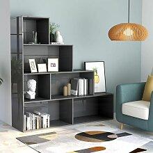Bücherregal/Raumteiler Hochglanz-Grau 155x24x160