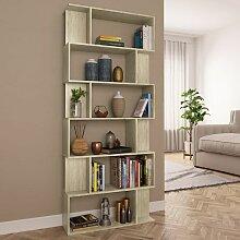 Bücherregal/Raumteiler Sonoma-Eiche 80x24x192 cm