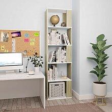 Bücherregal/Raumteiler Weiß Sonoma-Eiche