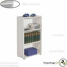 Bücherregal Standregal Regal in weiß mit drei