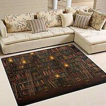 Bücherregal-Teppich 4 'x 6',