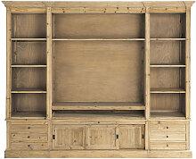 Bücherregal/TV-Lowboard aus recycling-Kiefernholz