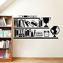 Bücherregal Wandtattoos Bibliothek Schule Vinyl