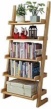 Bücherregal YNN 5 Tier Holzwand Rack Lehnende