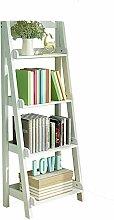Bücherregal YNN Holz 4-Tier-Bambus Speicherleiter