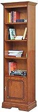 Bücherschrank 1 Tür bewegliche Bretter