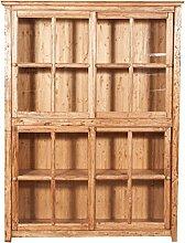 Bücherschrank 4 SchiebeTüren 154x37x212 CM