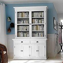 Bücherschrank in Weiß Landhaus Mahagoni