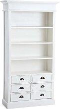 Bücherschrank Percy-weiß