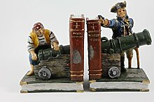 Bücherstütze Piraten Dekoration Boot Seemann Seemannschaf