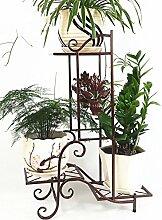 Bügeleisen Einfache Kreativität Mehrschichtige Blumenregal Boden Typ Blume Rack Balkon Boden Pflanzer Regal Europäische Moderne Wohnzimmer Indoor Flower Rack ( farbe : A )