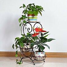 Bügeleisen mehrstöckiges Blumenregal / Wohnzimmer Balkon Blumentopf Rack / Indoor Pflanze Display Stand