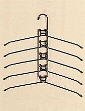Bügeleisen Multifunktions-Mehrschicht-Kleiderständer Home Schrank Anti-Rutsch Kleidung Racks Kleiderbügel ( farbe : Schwarz , größe : B )