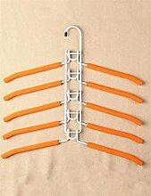 Bügeleisen Multifunktions-Mehrschicht-Kleiderständer Home Schrank Anti-Rutsch Kleidung Racks Kleiderbügel ( farbe : Weiß , größe : A )