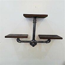 Büro GUJJ Bügeleisen Wandhalterung Stirnwand Regalsystem Retro industrielle Wasserleitungen Bücherregale Wall Racks