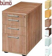 Bümö® Bürocontainer mit 4 Schüben & Schloss  