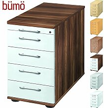 BÜMÖ® Bürocontainer mit 5 Schüben & Schloss  