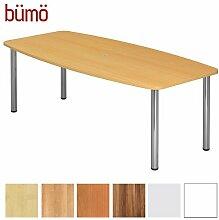 BÜMÖ® Konferenztisch rund oval 220 x 103 cm in