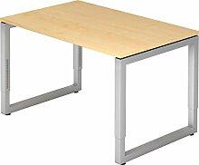 bümö® massiver Schreibtisch höhenverstellbar |